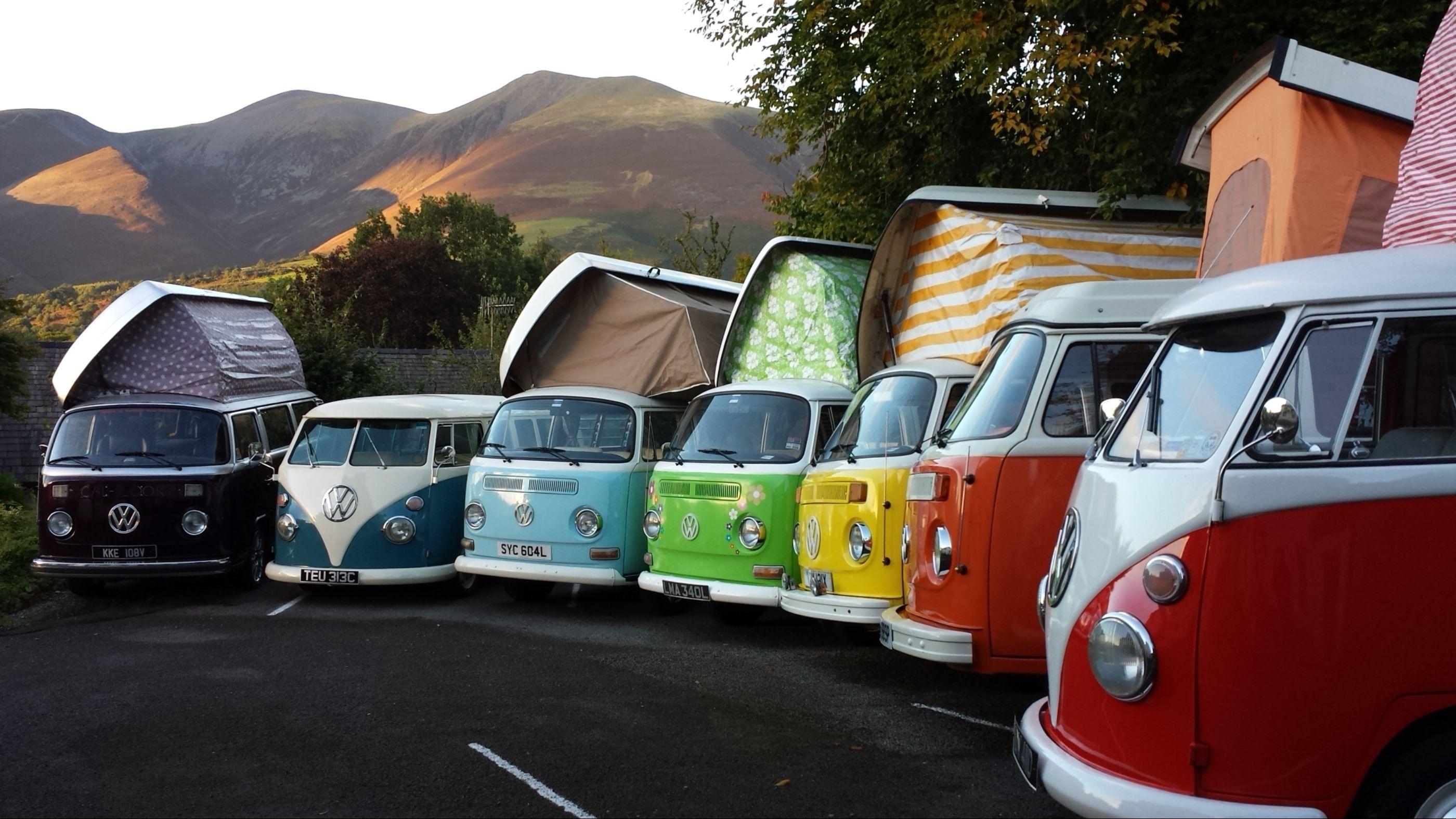 VW camper hire lake district