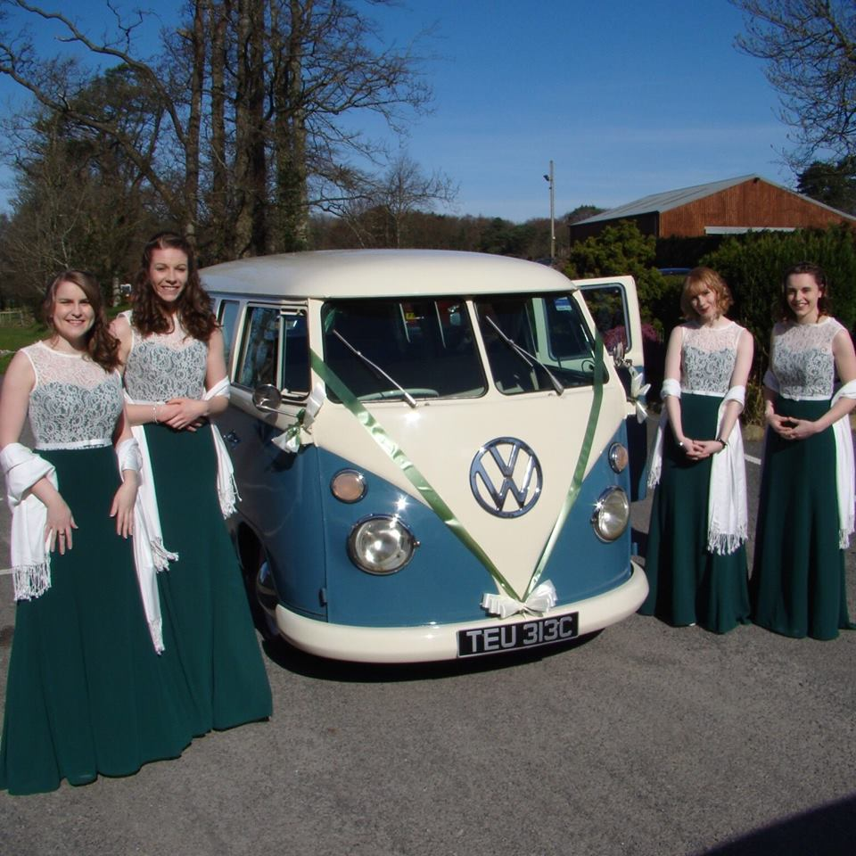 Harrison Rainbow Camper Hire at Mackay's wedding